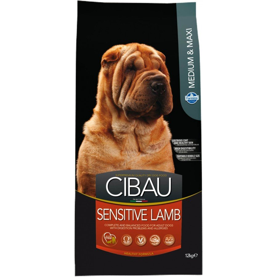 Farmina Cibau sensitive agneau pour chien adulte medium/maxi 12kg