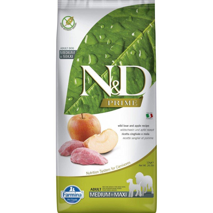Farmina N&D Prime grain free sanglier pomme pour chien adulte med-max 12kg