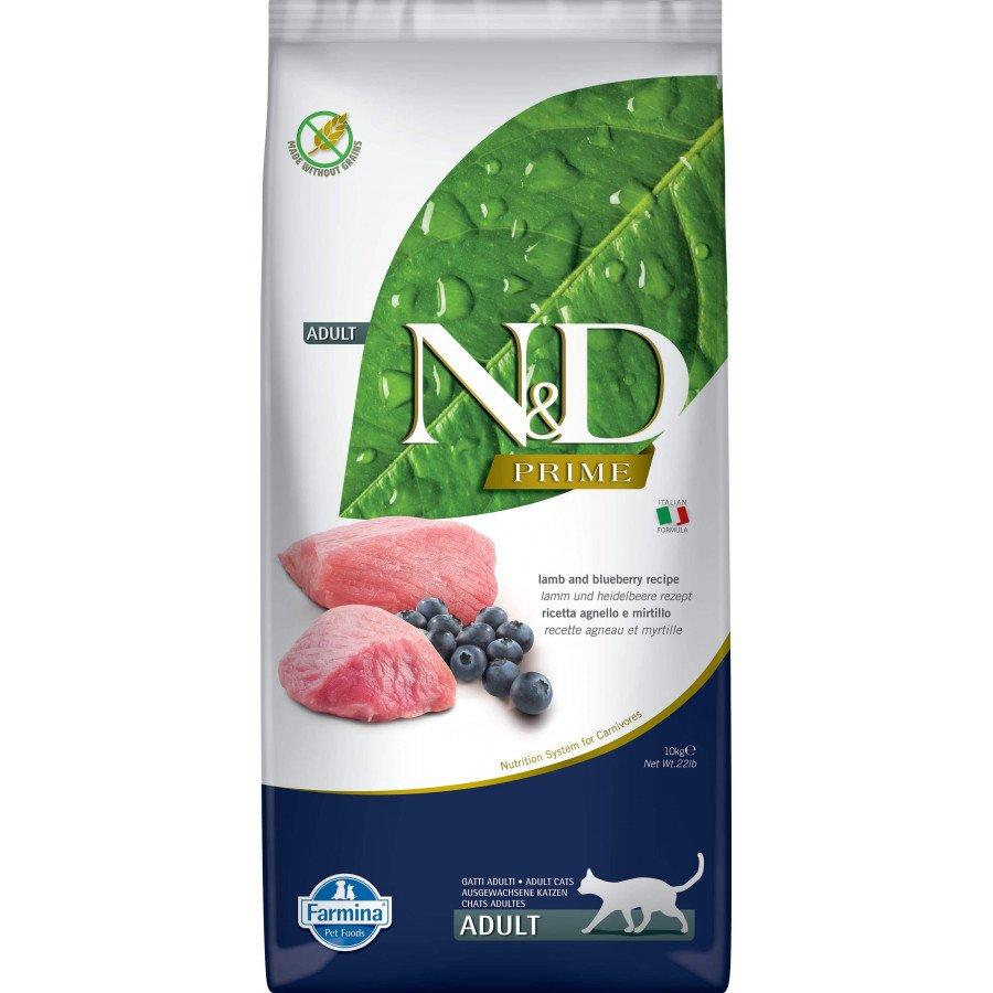 Farmina N&D Prime grain free agneau myrtille pour chat adulte 10kg