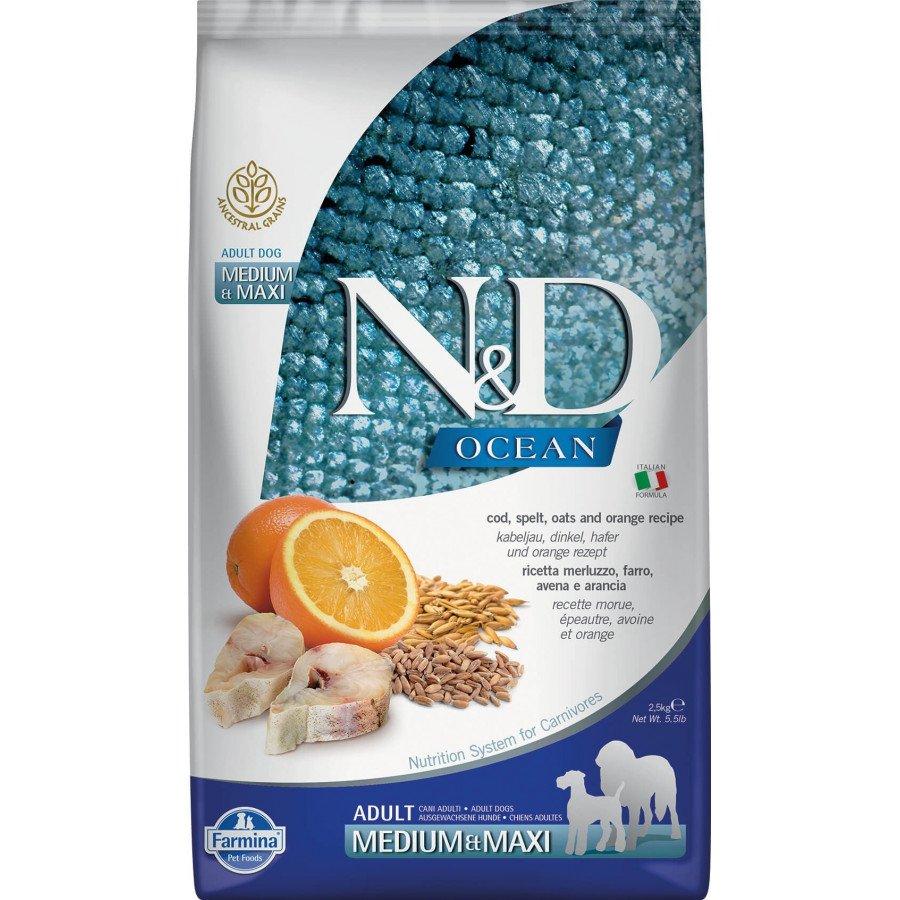 Farmina N&D Ocean low grain poisson orange pour chien adulte medium-maxi 2,5kg