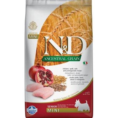 Farmina N&D Ancestral grain poulet grenade senior pour chien adulte mini 2,5kg