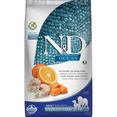 Farmina N&D Ocean potiron grain free poisson orange pour chien adulte