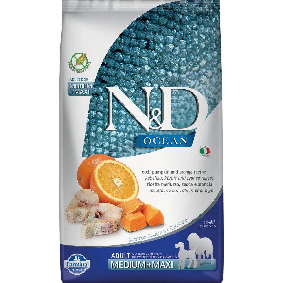 Farmina N&D Ocean potiron grain free poisson orange pour chien adulte medium-maxi 2,5kg