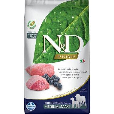 Farmina N&D Prime grain free agneau myrtille pour chien adulte medium-maxi 2,5kg