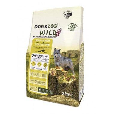 GHEDA Dog&Dog Wild Regional Farm pour Chiens Adultes de toutes Tailles