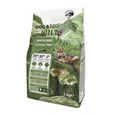 GHEDA Dog&Dog Wild Regional Forest pour Chiens Adultes de toutes Tailles