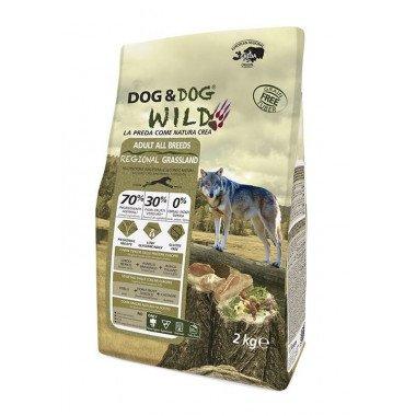 GHEDA Dog&Dog Wild Regional Grassland pour Chiens Adultes de toutes Tailles