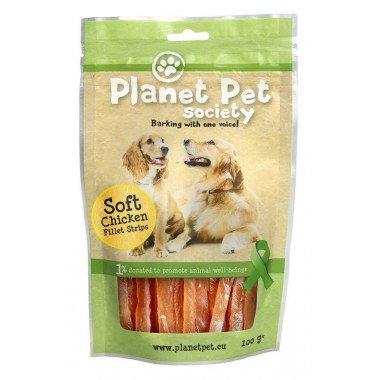 Planet Pet Society friandise lamelles de poulet pour chien