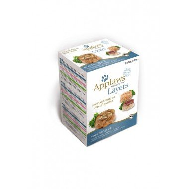 Applaws multipack layers 6x70gr pour chat adulte