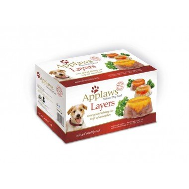 Applaws multipack layers 6x100gr pour chien adulte