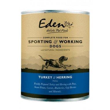 Eden boîte de pâté Turkey herring (chiens adultes)