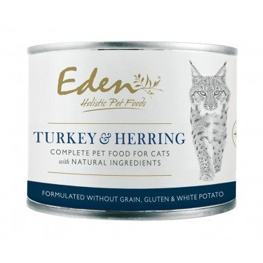 Eden boîte de pâté Turkey herring (chats adultes)