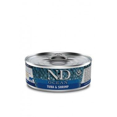N&D Océan humide bonite (petit thon), crevettes (chat)