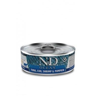 N&D humide bonite, morue, crevettes (chat)