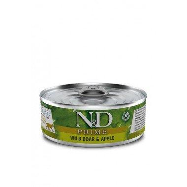 N&D Prime humide sanglier, pomme (chat)